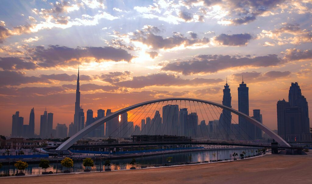 City of Dubai at sunset