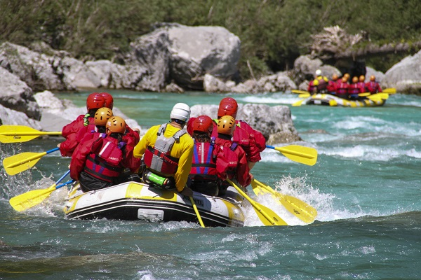 Rafting on the Soca River in Slovenia