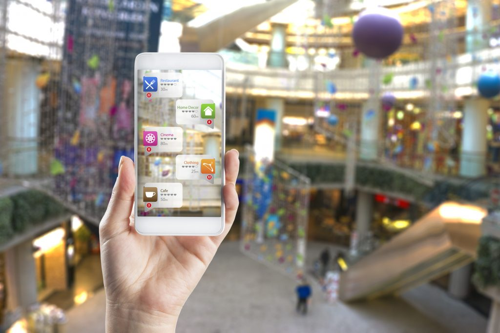 augmented reality used in shopping mall