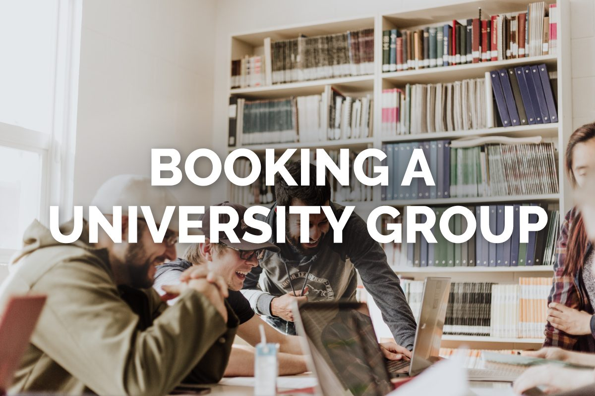 Book University Groups with Sky Bird