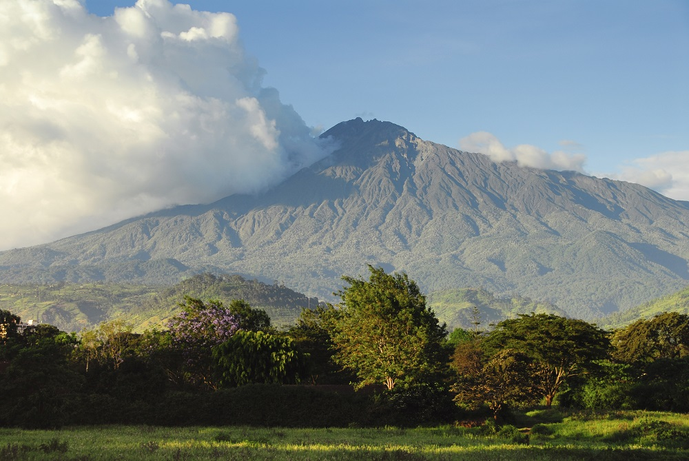 Mount Meru Volcano Arusha National Park-VFR Travel