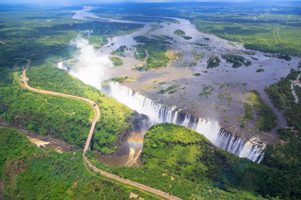the African landmark of Victoria Falls