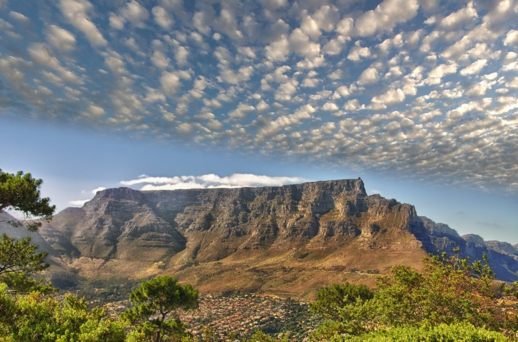 Table Mountain overlooks Cape Town - a fantastic African destination available from Emirates