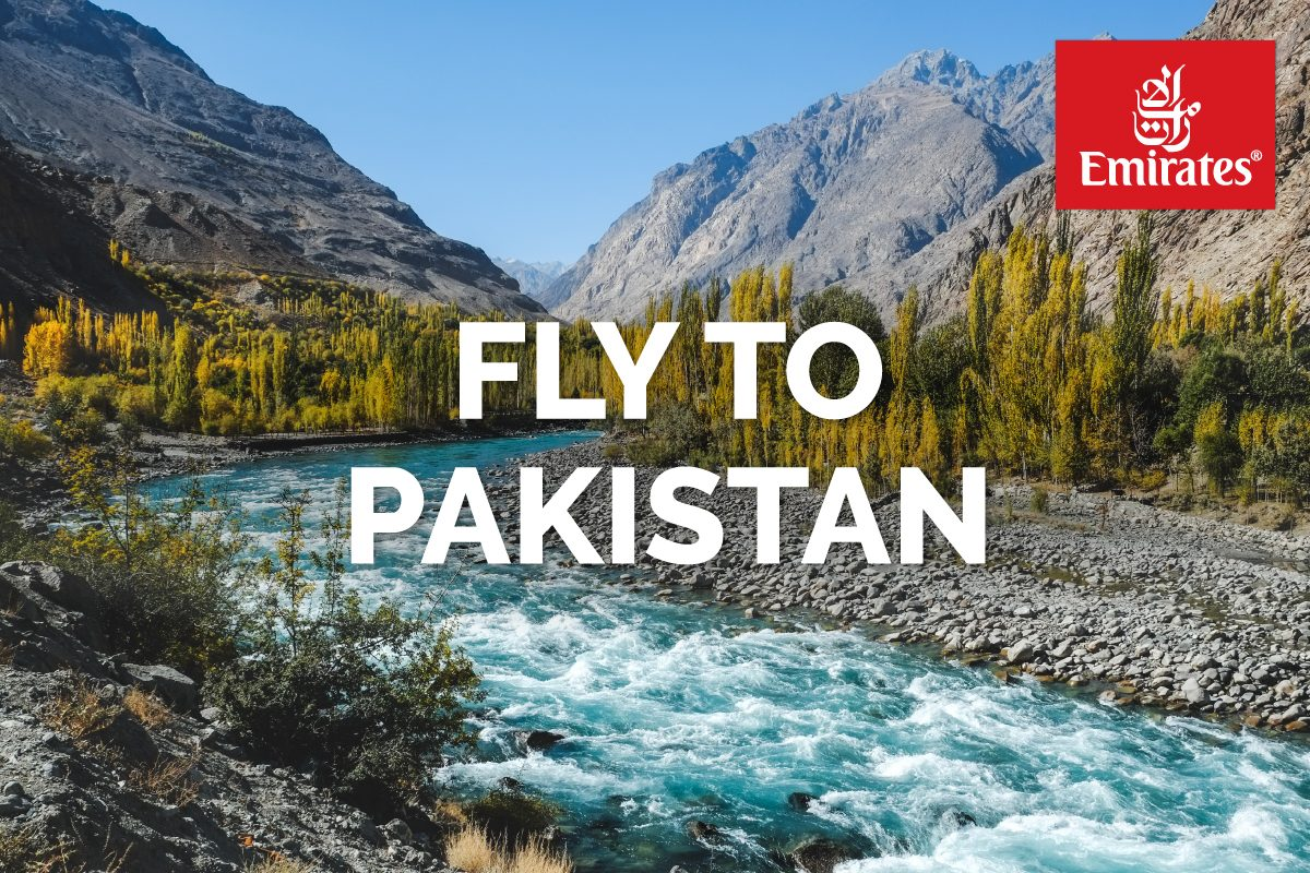Fly to Pakistan on Emirates Airlines
