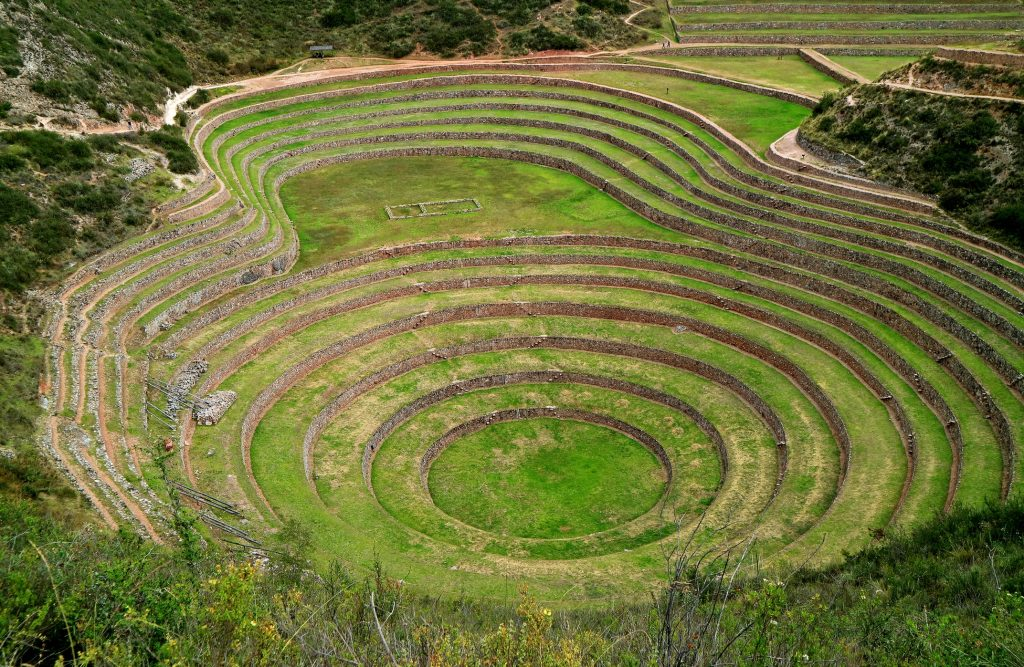 Moray - an Inca archaeological site near the Latin American luxury resort Tambo del Inka