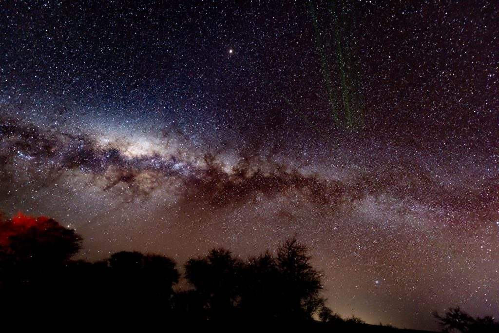 view of the Milky Way from Alto Atacama luxury resort