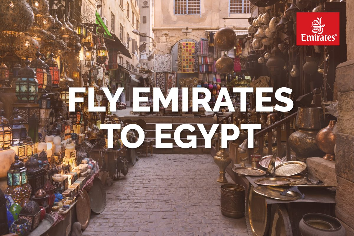 Book Clients' Flights to Cairo, Egypt on Emirates