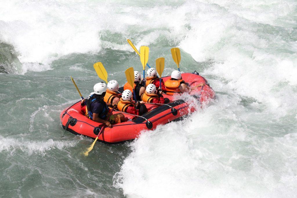 white water rafting in Japan
