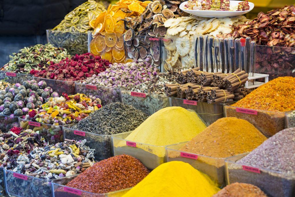spice buckets at Egyptian Market-Turkey