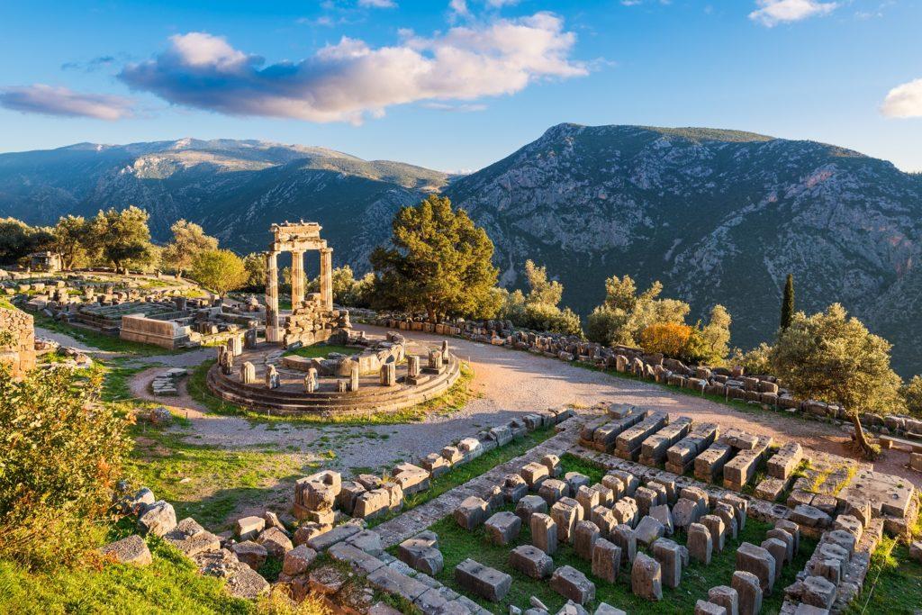ancient ruins of delphi-greece