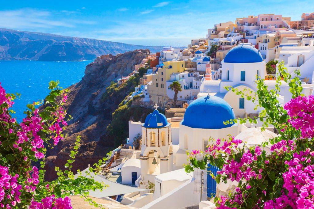 santorini hillside-greece