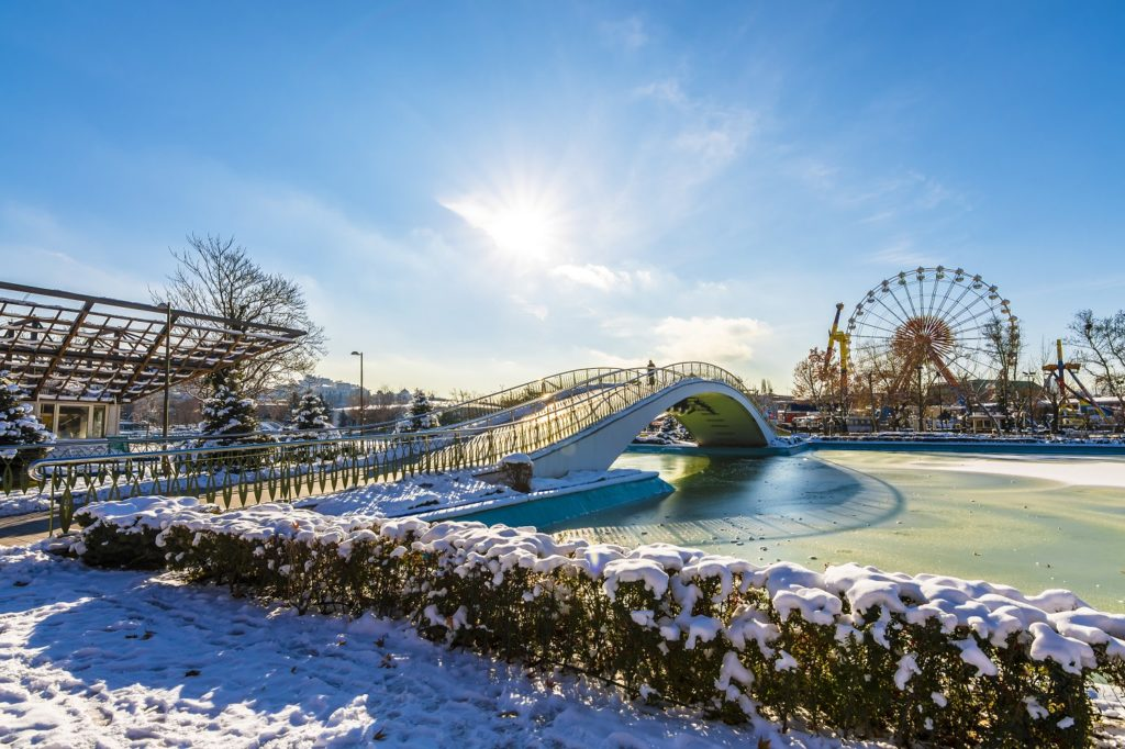 Genclik Park in winter-Turkey