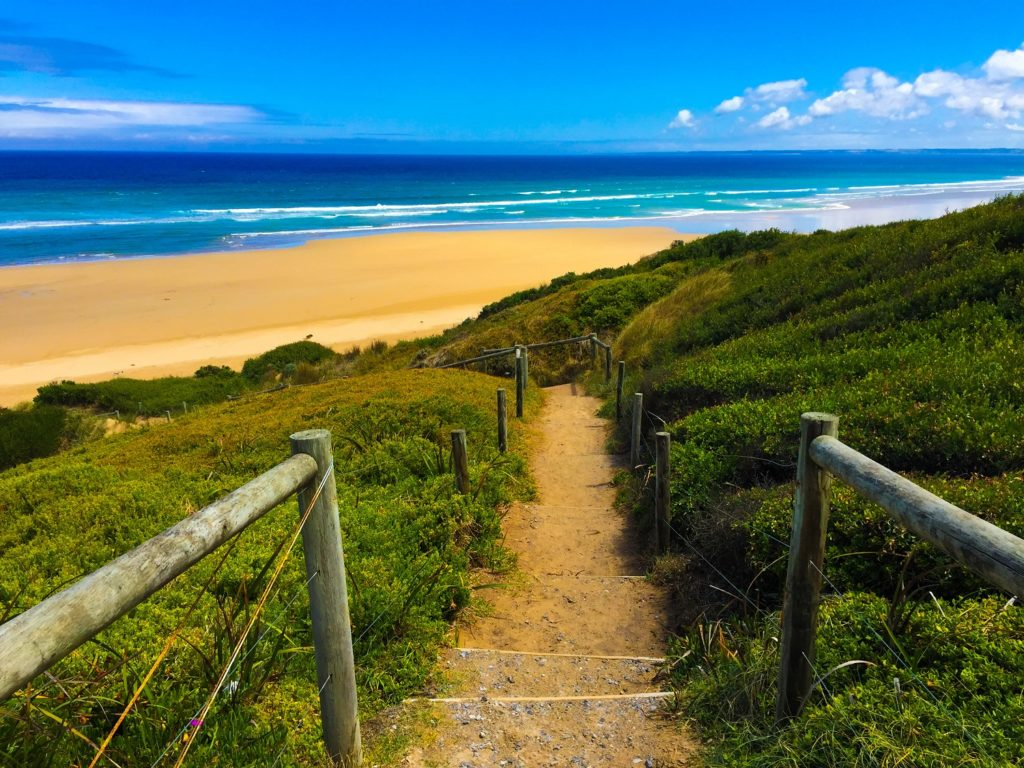 path leading to secluded beach-safe travel