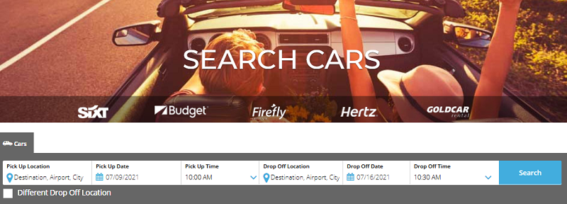 search cars-WINGS page