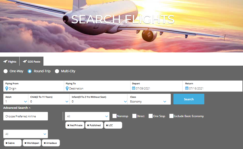 search-flights-WINGS-page