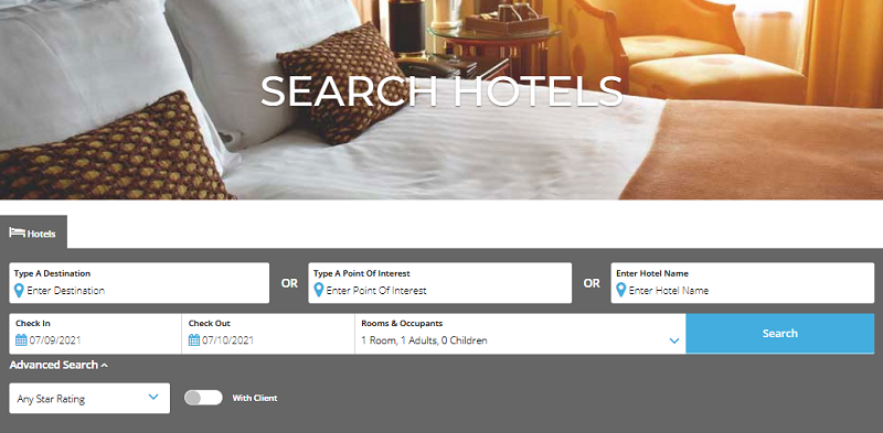 Search hotels-WINGS page